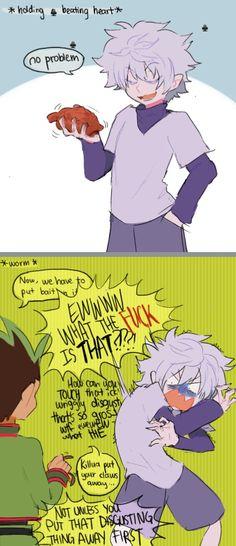 Gon and killua Hunter x Hunter Haha poor Killua (favorite art)