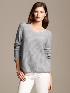 **Note: loose, drape-y sweater...staple. Banana Republic | Swing Pullover ($74.99)
