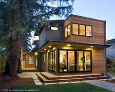 Hermso diseño de casa prefabricada con una superficie de 104 metros y 2 plantas