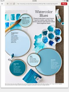 Cottage Blue - Find the perfect blue paint color for your room. Browse our inspiring palettes of blue, and see how the hue can decorate any space. Plus, get the paint color names from these palettes, as well as some from our favorite blue rooms.