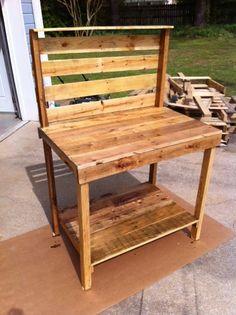 Custom Pallet Potting bench by JustPallets on Etsy, $199.00
