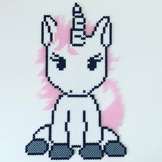 Unicorn hama beads by missghitaa - Pattern: https://de.pinterest.com/pin/374291419013031059/