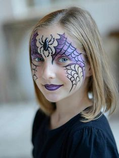 Halloween make-up for scary children's faces - Kinderschminken - Makeup Halloween Makeup For Kids, Creative Halloween Costumes, Disney Halloween, Easy Halloween, Halloween Crafts, Halloween Face, Halloween Painting, Costume Halloween, Halloween Orange