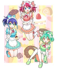 Serena, Yuzu and Rin
