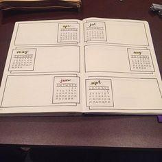 bujo, bullet journal, and future log image Bullet Journal Tracker Ideas, Future Log Bullet Journal, Planner Bullet Journal, Bullet Journal Page, Organization Bullet Journal, Bullet Journal Hacks, Bullet Journal Spread, My Journal, Journal Pages