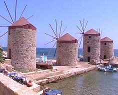Windmills, Chios Greece