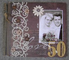 24 Best 50th Anniversary Album Ideas Images Digital Scrapbooking