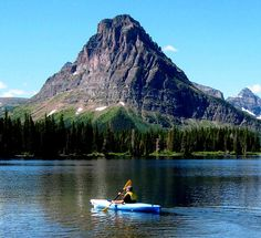 Kayaking Montana, Glacier National Park