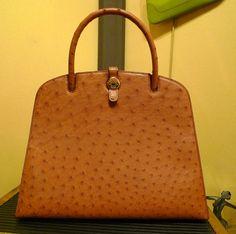 Beautiful Dalvy Hermes bag; ostrich; excellent condition