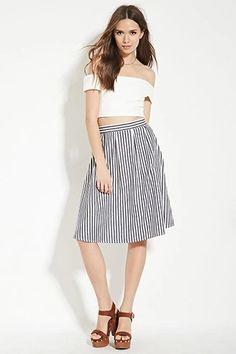 Contemporary Striped Skirt | LOVE21 #f21contemporary