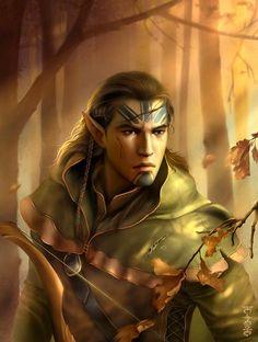 m Elf Ranger portrait forest Kivan - Baldur's Gate by Lei-Feiyang on deviantART Fantasy Warrior, Fantasy Races, Fantasy Rpg, Medieval Fantasy, Elf Warrior, Baldur's Gate Portraits, Fantasy Portraits, Character Portraits, Character Art