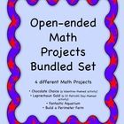 This is a bundled set of 4 open-ended Math Projects. Two projects are available in this store as separate products and two are included within othe...