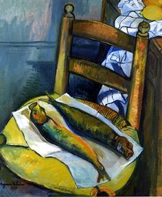 Still LIfe with Fish / Suzanne Valadon - 1937