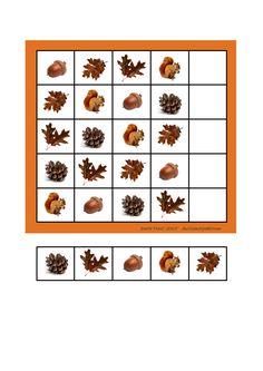 herfst sudoku voor kleuters