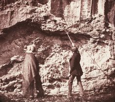 William Henry Fox Talbot (1800–1877)    The Geologists, c. 1843    Salt print from calotype photograph