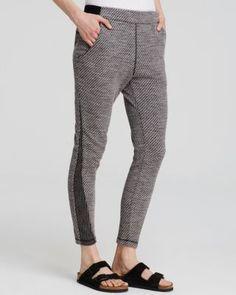Free People Textured Knit Pants | Bloomingdale's