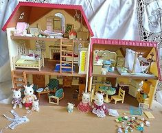 Calico Critters Massive Lot Double House Lot Fully Furnished Loaded With Figures
