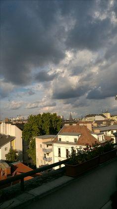 #afterrain #budapest #boulevardcityhu #terrace Budapest, Terrace, Mansions, House Styles, City, Home Decor, Balcony, Patio, Luxury Houses