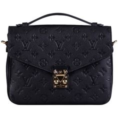 Pre-owned Metis ($2,535) ❤ liked on Polyvore featuring bags, handbags, shoulder bags, black, leather cross body purse, cross-body handbag, shoulder strap bags, shoulder strap handbags and monogrammed crossbody purse