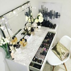Makeup storage by Vanity Collections