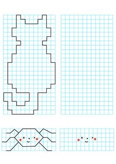 Graph Paper Drawings, Graph Paper Art, Indoor Activities For Kids, Preschool Activities, Pattern Drawing, Pattern Art, Arte Elemental, Busy Boxes, Drawing Activities