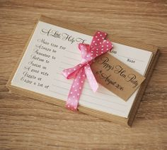 'A Little Help From Your Hens' - Hen Party Advice Game Cards, £8.00 for set of 8