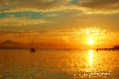 Sunset Photograph Seascape Art Seashore by LDTwedePhotography