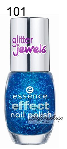 Essence - Effect nail polish - Brokatowy lakier do paznokci-101 - JEWELS IN THE POOL