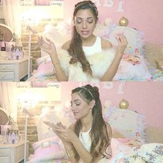 Ariana Grande. I'm going to be famous like her, and use it to spread positivity! I have a passion for singing. Tell people about me, I'm @mackysbubble