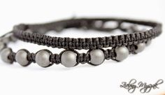 Black bracelets for men #bracelet #handmade #macrame #poland #beads
