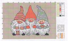 Christmas stitched knomes.
