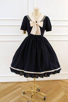 navy/nautical lolita dress