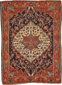 Lot 3070. A FEREGHAN SAROUK RUG. Central Persia size approximately 3ft. 6in. x 4ft. 9in. US$ 1,000 - 1,500