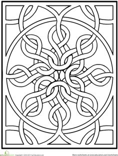Worksheets: Celtic Mandala