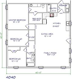 40x40 floor plans - Square House Plans