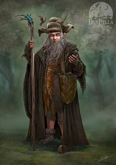 Q: Who Is Radagast the Brown? ANSWER: Radagast the Brown wizard is a character in The Lord of the Rings whom Gandalf identifies as a member of his order, the Istari. The Istari were a group of ange… Legolas, Gandalf, Art And Illustration, Illustrations, Hobbit Art, O Hobbit, Radagast The Brown, The Hobbit Movies, Brown Art