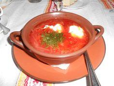 Hot borscht.
