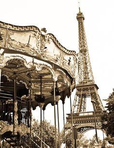 Paris Photography  Eiffel tower Golden View  by rebeccaplotnick