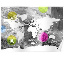 Tiffanys ice cream art print ice cream art and office works world map poster gumiabroncs Gallery