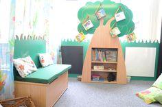 Our 'Garden' themed furniture-great reading corner to encourage children to read! with white board & chalkboard, seat & storage. Seat Storage, School Furniture, Garden S, Storage Solutions, Chalkboard, Toddler Bed, Encouragement, Children, Corner