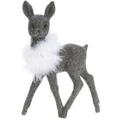 Lord & Taylor Beaded Deer Statue (42 AUD) ❤ liked on Polyvore featuring home, home decor, grey, deer home decor, grey home decor, gray home decor, deer statue and lord & taylor
