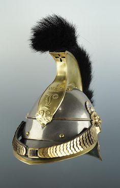 Bavarian cuirassier helmet with Ludwig monogram.
