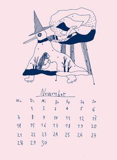 Сalendar 2016by zilasaule  #calendar #illustratedcalendar #illustration