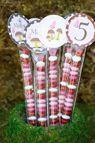 Cute party favor - I like this idea but with woodland colors.
