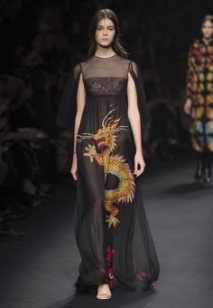 omg, dragons. imperial dragons everywhere.... Valentino Official Website - Valentino Women From The Catwalk Collection.