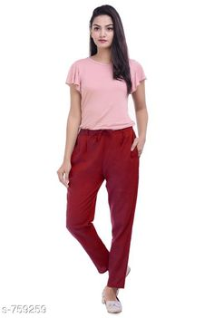 Checkout this latest Women Trousers Product Name: *Stylish Cotton Flex Women's Pant* Fabric: Cotton Flex Waist Size: S- 22 in to 26 in M - 26 in to 30 in L - 30 in to 34 in XL - 34 in to 38 in XXL - 38 in to 42 in 3XL- 42 to 46 in Length: Up To 40 in           Type: Stitched Description: It Has 1 Piece Of Women's Pencil Pant Pattern: Solid Country of Origin: India Easy Returns Available In Case Of Any Issue   Catalog Rating: ★4 (457)  Catalog Name: Stylish Premium Cotton Flex Pencil Pants Vol 1 CatalogID_86466 C79-SC1034 Code: 123-759259-957