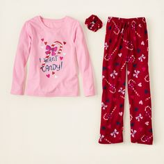 girl - sleep & underwear - candy cane pj set | Children's Clothing | Kids Clothes | The Children's Place