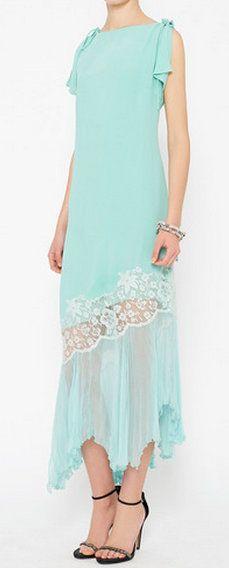 Emanuel Ungaro Blue Dress Beautiful!