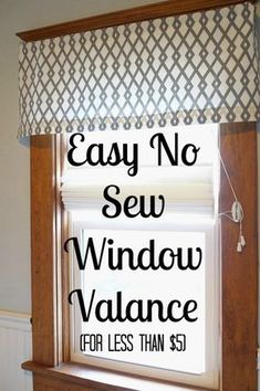 Diy Valance Curtains - Easy Diy No Sew Window Valance Diy Curtains Kitchen Window 20 Very Cheap And Easy Diy Window Valance Ideas You Would Love 5 Brilliant Diy Window Valan. No Sew Valance, Diy Curtains, Sewing Curtains, Box Valance, Bedroom Valances, Pelmet Box, Valances For Living Room, Curtain Valances, Homemade Curtains
