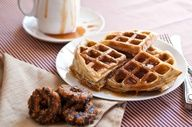 Girl Scout Samoas Waffles Recipe With Coconut Caramel Sauce - Domestic Fits